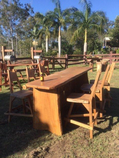 Hardwood Bar Set