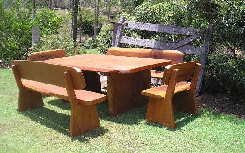 Outdoor Hardwood Table and Chair Set