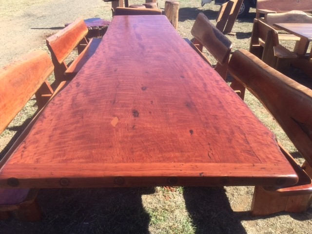 Large outdoor hardwood table