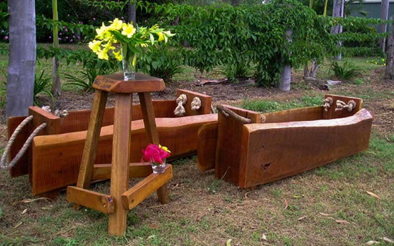 Wooden Planter Boxes
