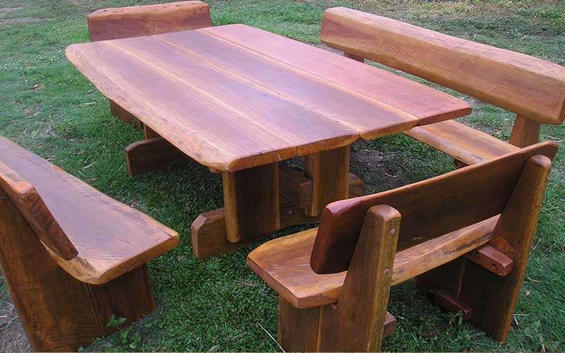Hardwood table and chair set
